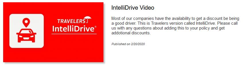 IntelliDrive Video
